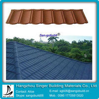 Galvalume Material sand coated metal roofing tiles