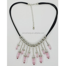 New arrival! Metal bar long beads necklace design, fashion cord bib necklace jewelry(RS-N155081)