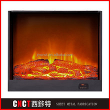 2015 hot cheap wooden decorative wall mounted electrical fireplace