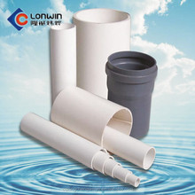 High working pressure dia110mm pvc drainage pipe from china