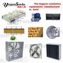 SANHE Exhaust fan/cooling pad/air inlet/light trap/ Poultry equipment