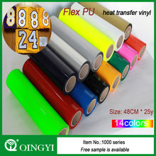 wholesale PU heat transfer vinyl for clothing/PU heat transfer film