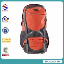 Wholesale large volume bag durable travel hiking backpack with rain cover