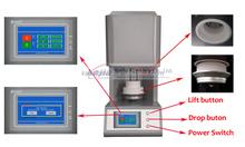 Zirconia denture sintering furnace with zirconia crucible for denture processing free zirconia beads