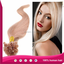 Silky Straight Nail Tip Hair Extension 100% Virgin Brazilian Human Hair Glossy & Shedding Support Wholesale/Retail