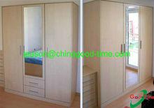 KD bedroom oak armoire wardrobe with mirror