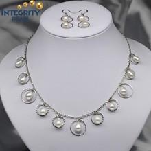 con encanto de la perla de agua dulce conjunto de diseños