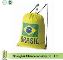 National Day Gifts Promotion-- Brasil Flag--Drawstring Sports Events Sponsor Giveaway Back Pack Bag