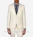blanco slim fit de último diseño traje de algodón para hombres