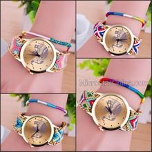 2015 Fashionable Handmade Friendship Bracelet Wrist Watch