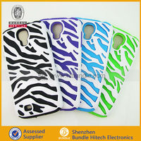 Lowest price , Zebra-stripe pattern case for samsung S4, pc silicone case