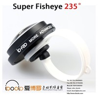 The lastest 235 degree universal clip fisheye lens for mobile phones special effect