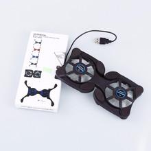 Portable & lightweight design USB Cooler Cooling Pad 2 Fans For Laptop cooler &Suit for Windows 98 SE/2000/ME/XP/Vista/