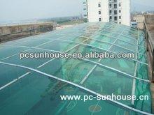De plástico transparente techo solar para la casa