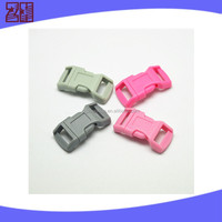 colored plastic side release buckle ,plastic bag buckle,side release curved buckle for bag