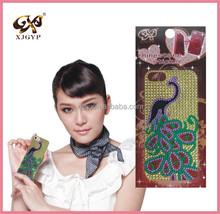 cell phone sticker skin/phone decorative sticker/mobile phone rhinestone stickers