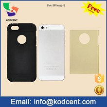 Free sample tpu + pc back cover slim armor bulk case for iphone 5 5s