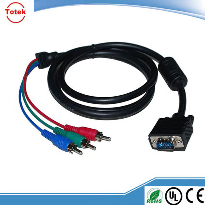 2015 new products 1.5m VGA RCA cable