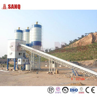 Chinese plant for produce concrete HZS60 Conveying Belt 60m3/h