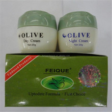 FEIQUE Olive Day & Night Whitenning Freckle Curing Cream (20g * 2 pcs = 1 box)