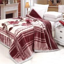 Fashion flower pattern printed fleece 100 polyester blanket stock