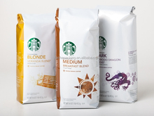Wholesale Custom side gusset ground coffee bag/coffee packaging bag
