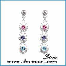 New arrival !! by swarovski elements earrings long eardrop with charm women
