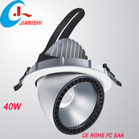 2015 hot new product aluminum alloy lamp body material dimmable 40W cob led downlight,led downlight manufacture supply