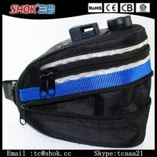 2015 new design high quality led bag for bicycle/bike saddle bag with led light
