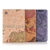 Map Pattern Wallet Flip Stand TPU+ PU Leather Case for iPad Mini 4