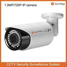 1.0mp POE 720P security cctv vaifocal lens surveillance bullet P2P HD outdoor waterproof ip camera 720p