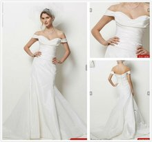 2012 Mellow Off The Shoulder Sweetheart Neckline Ruffle Wedding Dresses 2012 Bridal--WD1004