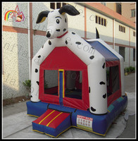 Dog house shaped bouncer jumping bounce house for kids