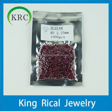 Round Brilliant Cut 2.25mm 8# synthetic ruby stones