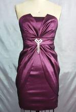 Short Prom Dress Patterns Fashionable Backless Purple Cocktail Dresses S674#