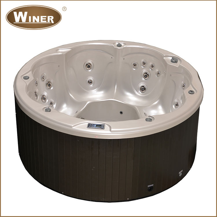 6 People Luxury Portable Hot Tub Aqua Massage Outdoor Spa Whirlpool Buy Out
