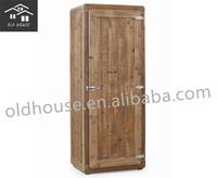 Reclaimed wood wardrobe furniture/Solid wood wardrobe/Antique furniture bedroom recycled wood chest OH-CF1059