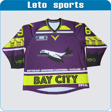 Purple,yellow and black hockey jersey adult size