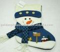 de alta calidad muñecos de nieve blanca media de la navidad para la decoración