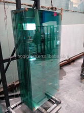 cut to size clear 12mm toughened/tempered glass fence panel