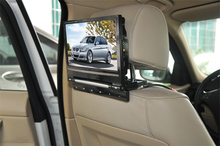 2016 new flip down car headrest monitor with 32 bits games usd sd for back seat passenger