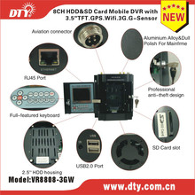 From Golden supplier on Alibaba 8 channel bus dvr with turkish language menu,VR8808-3GW
