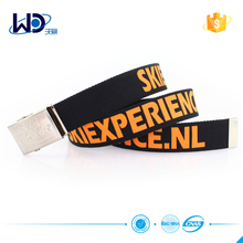 logo buckle canvas belt with logo strap