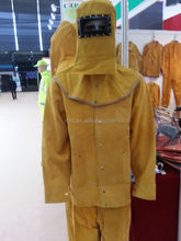 High quality cowhide split leather welding jacket and safety leather welding wear price