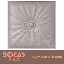 Insulated Fireproof 3DEmbossed Foam Leather Carved Soft Package Wall Paper Board