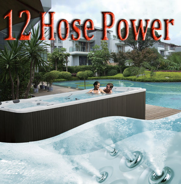 5810mm Freestanding Acrylic Whirlpool Massage Balboa Control System Outdoor Pool Above Ground