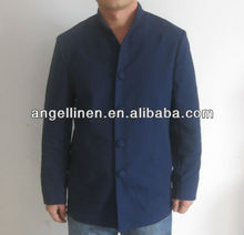 blue linen jacket for hotel workers