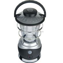2015 bestsales 15 LED camping lantern 4AA(w/Solar panel&adaptor)