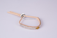 adjustable fashion jewellry wholesale yellow crystal bracelet