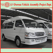new model front engine mini gasoline light commercial bus and city logistics van